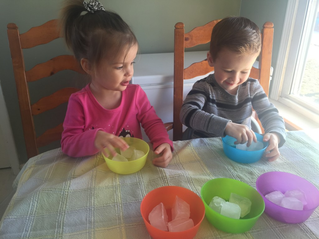Experimenting with Ice for Kids