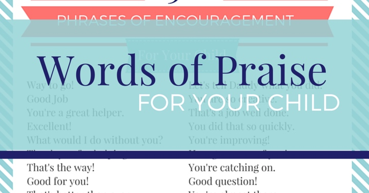 52 Phrases of Encouragement for Kids – with FREE printable