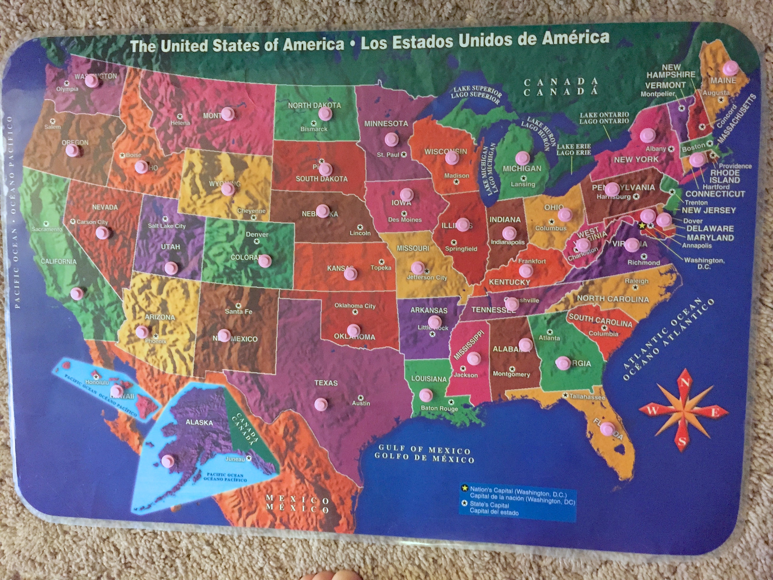 How to teach your two-year old all 50 States - The Little Years