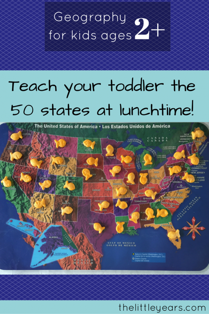 Teach your toddler all 50 states at lunchtime! (2)