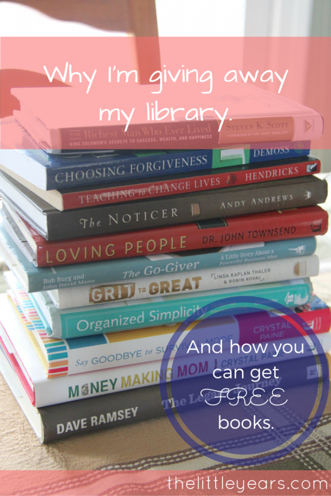 Why I'm giving away my library.