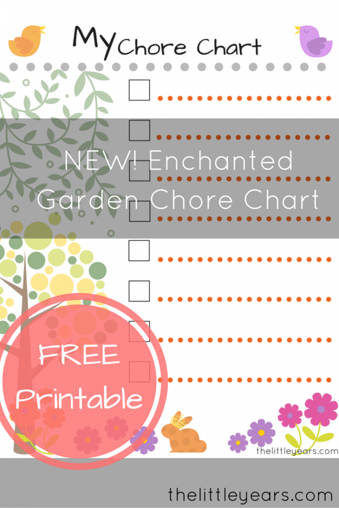 NEW! Enchanted Garden Chore Chart