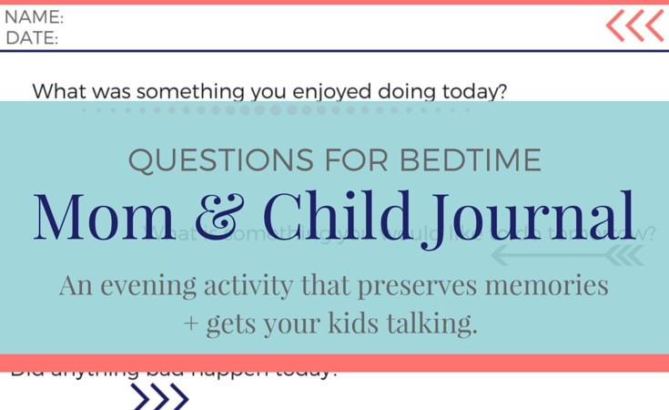 Journal questions for your kids + free printable