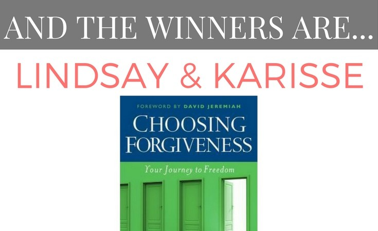 "Winners of the ""Choosing Forgiveness"" Giveaway!"
