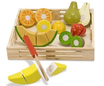 wooden food set melissa and doug