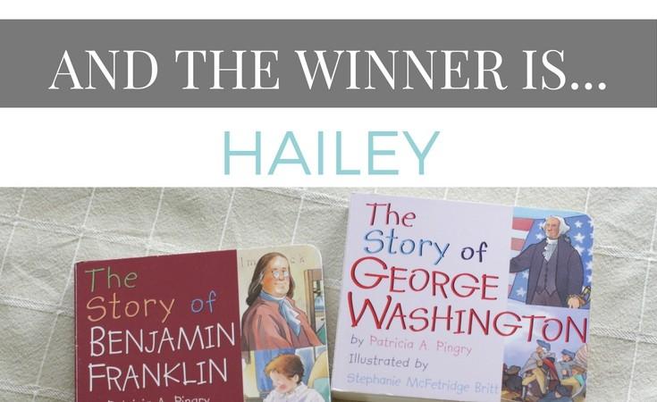 History Board Books Giveaway Winner