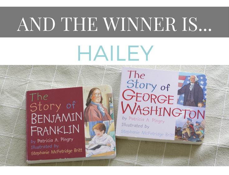 Board Book giveaway winner