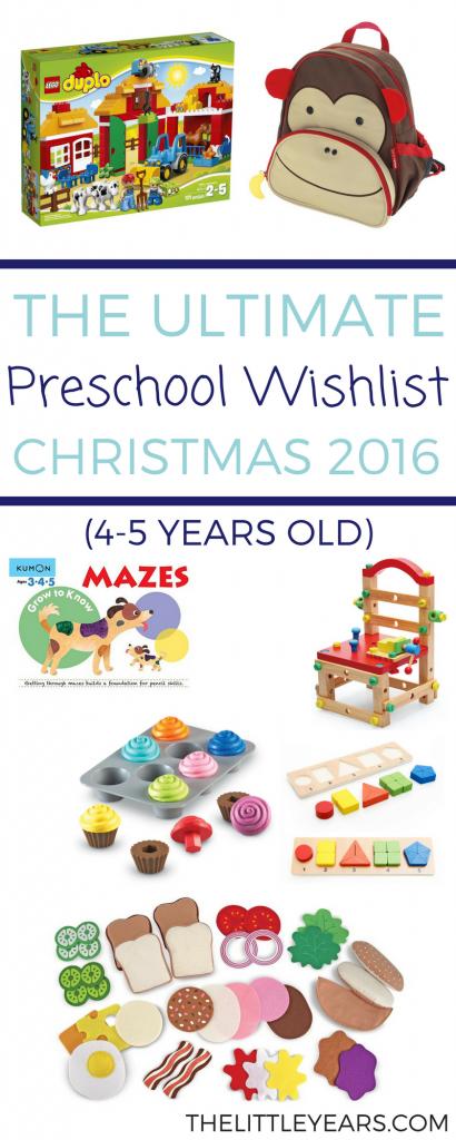 preschool wishlist