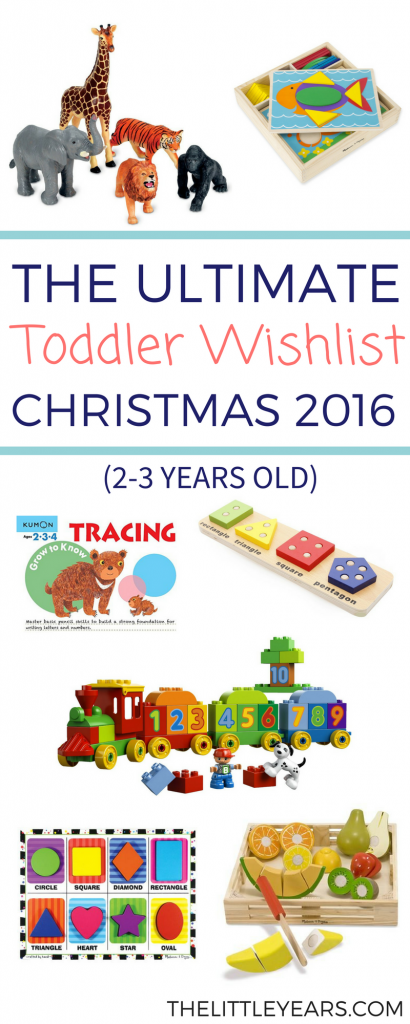 toddler Christmas wishlist