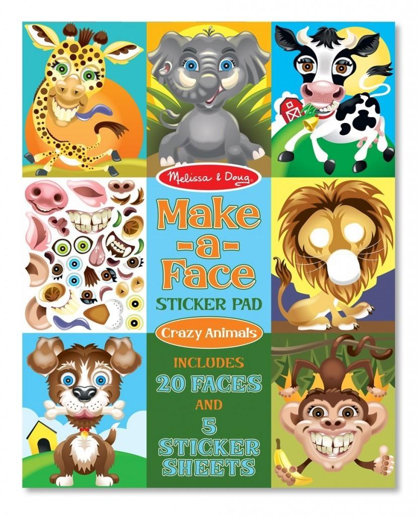 make a face sticker pad
