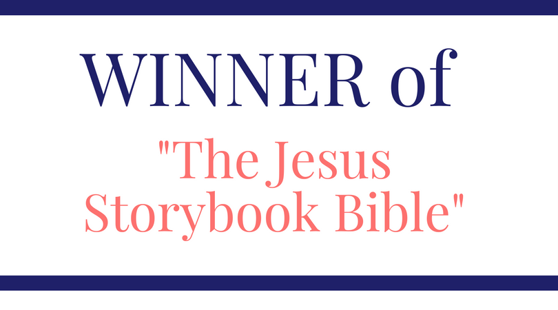 Winner of the Bible Storybook Drawing!