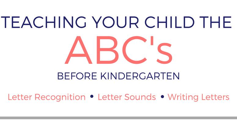 Teaching Your Child The Alphabet Before Kindergarten