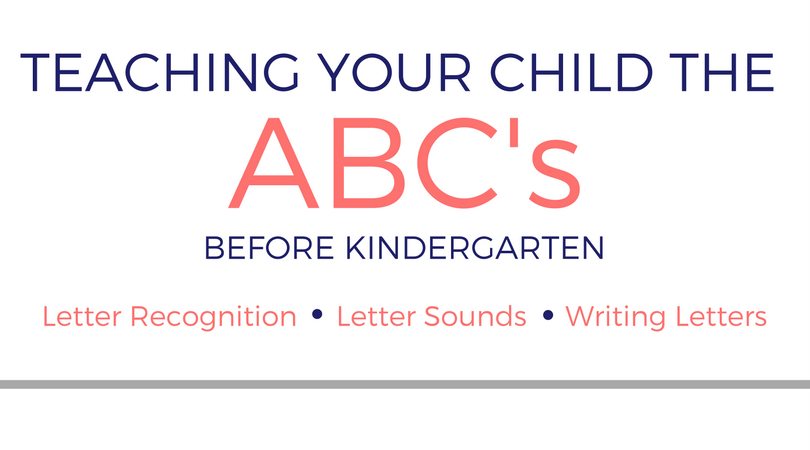 Teaching Your Child The Alphabet Before Kindergarten