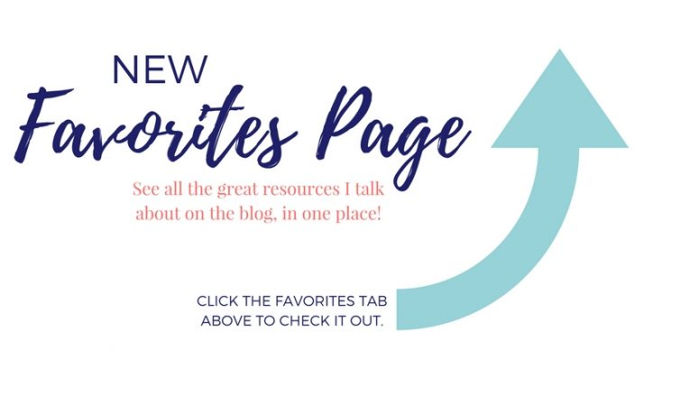 NEW! Favorites Page!