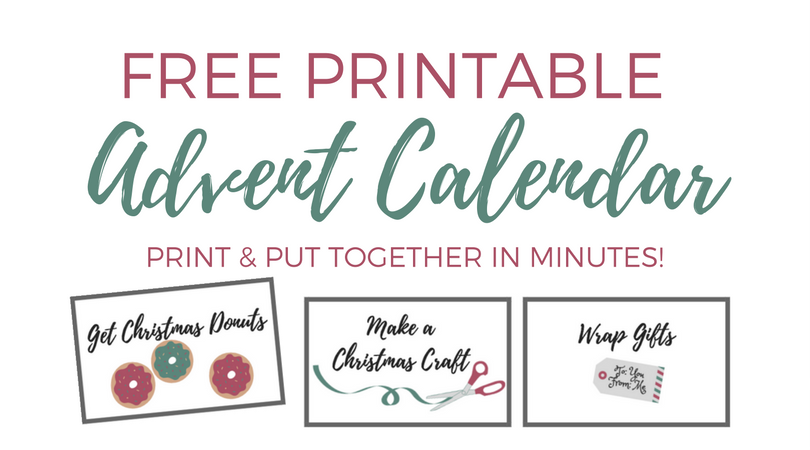 Free Printable Advent Calendar for Kids