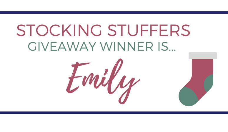 Stocking Stuffers Giveaway Winner!
