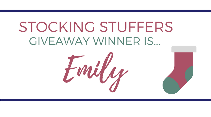 Stocking Stuffers Giveaway Winner!